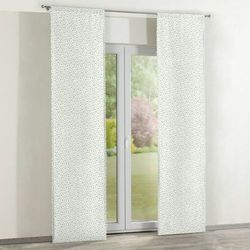 Dekoria Zasłony panelowe 2 szt., turkusowo-zielone kwiatuszki na jasnym tle, 60 x 260 cm, Wyprzedaż do -30%