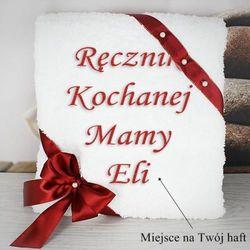 Prezent dla Mamy: ręcznik z haftem dedykacji (70x140 cm - rożne kolory)