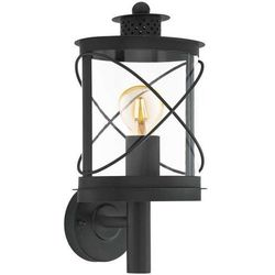 Ścienna LAMPA zewnętrzna HILBURN 94842 Eglo ogrodowa OPRAWA elewacyjna KINKIET latarnia outdoor IP44 czarna