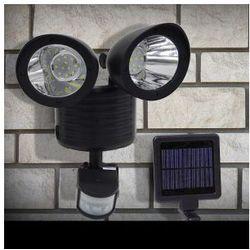Podwójna lampa solarna z czujnikiem ruchu, 22 super mocne diody SMD, 88