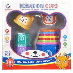 Zabawka SWEDE Piramida kubeczki, SWEDE Zabawki dla najmłodszych