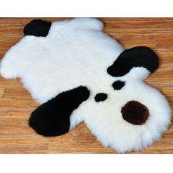Domarex Dywanik futerko dla dzieci Pies czarno-biały, 50 x 80 cm, 232314