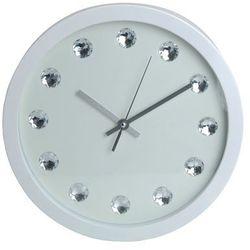Emako Zegar ścienny glamour z kryształkami, Ø 30 cm (8718158550057)