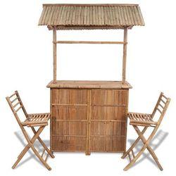 vidaXL Barek bambusowy z 2 krzesłami (8718475909170)