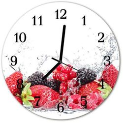 Zegar ścienny okrągły Owoce