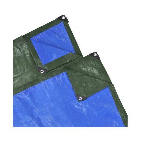 Plandeka, pokrywa (10 x 10 m) niebiesko-zielona 140 gsm - sprawdź w VidaXL