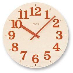 Lemnos Zegar ścienny prato pomarańczowy (4260278081125)