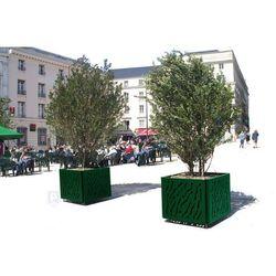 Donica Wenecja miejska na drzewka, stalowa - 120x120 cm (doniczka i podstawka) od sklep.szymkowiak.pl