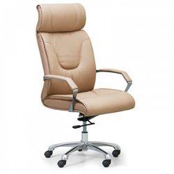 B2b partner Krzesło biurowe lux, skóra, beżowy