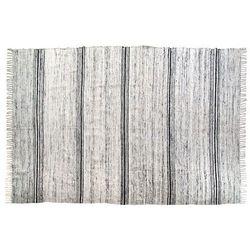 Hk living  jedwabny dywan czarno-biały 180x280cm tap0861