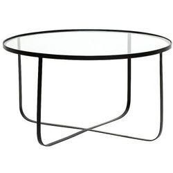 Bloomingville Harper stolik kawowy okrągły, czarny, szkło - (5711173174980)