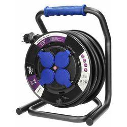 Przedłużacz bębnowy profesjonalny IP44, 4 gniazda 2P+Z, kabel gumowy olejoodporny, H07RN-F 3x2,5mm2, długość 20m OR-AE-13156/20M (5900378655480)
