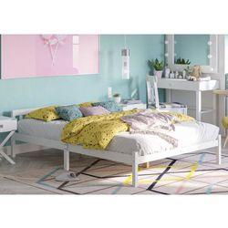 Łóżko drewniane białe 140x200 model 1403 marki Meblemwm