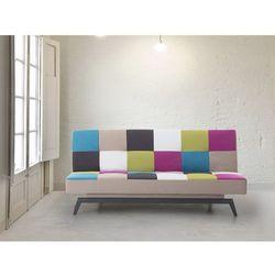 Sofa do spania - patchwork - kanapa - rozkladana - wypoczynek - LEEDS ze sklepu Beliani