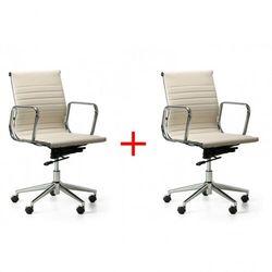 B2b partner Fotel biurowy style 1+1 gratis, kremowy