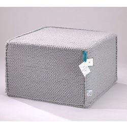 Szary szydełkowy puf Comfortable Flat - We Love Beds, 5902409732771