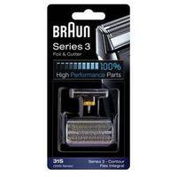 Akcesoria do maszynek do golenia  combipack flexintegral - 31s srebrne marki Braun