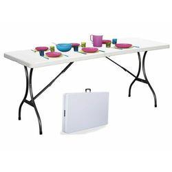 Stół cateringowy, bankietowy, ogrodowy, składany, biały, 240 cm (5903089061557)