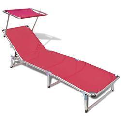 Vidaxl leżak z aluminium i tkaniny textilene, czerwony (8718475875253)