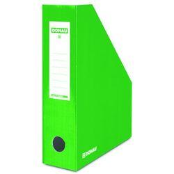 Pojemnik na dokumenty DONAU, karton, A4/80mm, lakierowany, zielony