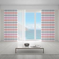 Zasłona okienna na wymiar - OLD-TIME RHOMBOIDS BLUSH