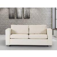 Skórzana sofa trzyosobowa beżowa - kanapa - helsinki marki Beliani