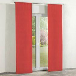 zasłony panelowe 2 szt., czerwony, 60 x 260 cm, loneta marki Dekoria
