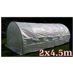 Domogrodimy Tunel foliowy ogrodowy ogrodniczy szklarnia 2x4.5 m biały uv6