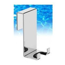 Omnires  uni haczyk podwójny do zawieszenia na kabinie prysznicowej, chrom un10350