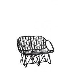 Madam Stoltz - Czarna ławka bambusowa