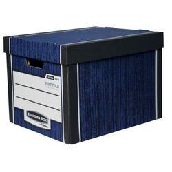B2b partner Pojemnik archiwizacyjny bankers box woodgrain, niebieski, 10 szt.