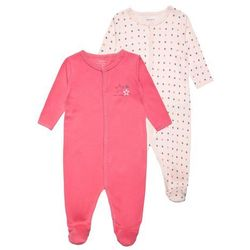 Name it NITNIGHTSUIT 2 PACK Śpioszki pink dogwood z kategorii body niemowlęce
