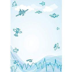 Wally - piękno dekoracji Tablica magnetyczna suchoscieralna dla dzieci samoloty 129