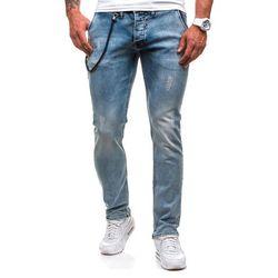 Niebieskie spodnie jeansowe męskie Denley 4730-1 (9971) - NIEBIESKI, spodnie męskie DENIM REPUBLIC
