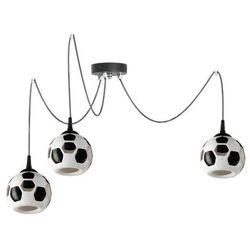 LAMPA wisząca LAMP 651/Z3 dziecięca OPRAWA zwis pająk spider piłka nożna kule balls białe czarne, LAMP 651/Z3