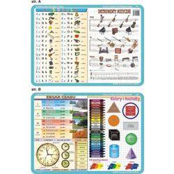 Podkładka edukacyjnaabecadło, instrumenty muzyczne, zegar, k, marki Visual system