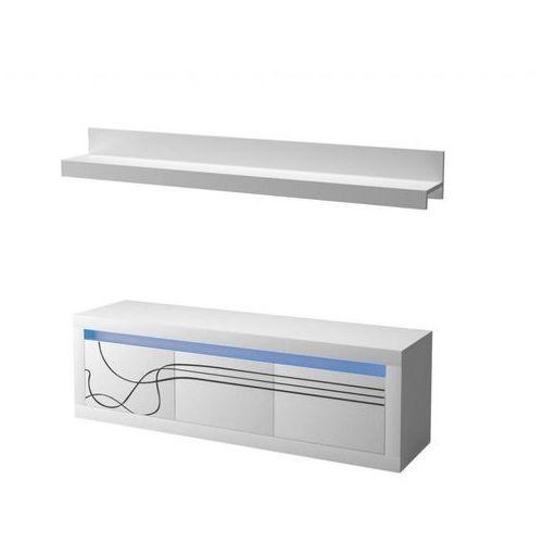 Stolik RTV LRTV165 + Półka P150 LINO + oświetlenie LED - produkt dostępny w Meble Largo