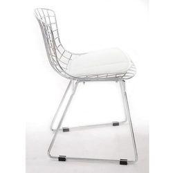D2.design Krzesło dziecięce harry junior inspirowane diamond junior - biały