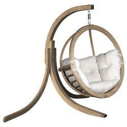 Zestaw: stojak Alicante + fotel Swing Chair Single, ecru Alicante+Swing Chair Single