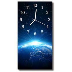 Zegar Szklany Pionowy Wszechświat planeta niebieski, kolor niebieski