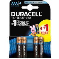 4 x bateria alkaliczna Duracell Duralock Turbo Max LR03 AAA 3+1 BL (blister)