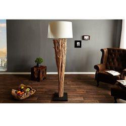 INTERIOR SPACE:: Lampa stojąca Wood Silhouette 175 cm - drewniany ||biały