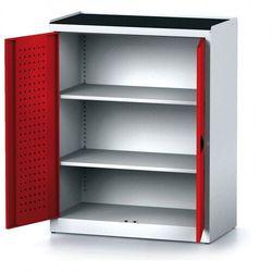 B2b partner Szafa warsztatowa mechanic, 1170 x 920 x 500 mm, 2 półki, czerwone drzwi