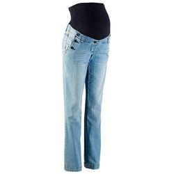 """Bonprix Dżinsy ciążowe ze stretchem, bootcut  niebieski """"medium bleached"""", kategoria: spodnie cią�"""
