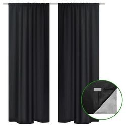 Czarne zasłony zaciemniające pomieszczenie Blackout x2 140 x 245 cm