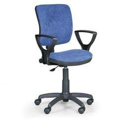 Krzesło biurowe MILANO II z podłokietnikami - niebieske