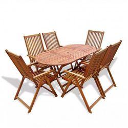Producent: elior Zestaw drewnianych mebli ogrodowych linder - brązowy