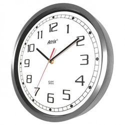 Zegar ze stali nierdzewnej Super Cichy #1 /30cm, AS02SC