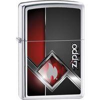 Zapalniczka ZIPPO Flame Logo, High Polish Chrome (Z22965) - produkt z kategorii- Zapalniczki