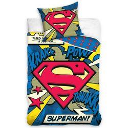 Dzieccarbotex pościel bawełniana superman - komiks, 140 x 200 cm, 70 x 80 cm od producenta 4home